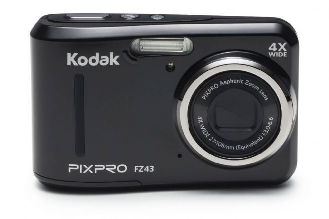 "Kodak PIXPRO FZ43 Camera 16MP 4xZoom 2.7""LCD 27mm Wide AA Batteries Black"